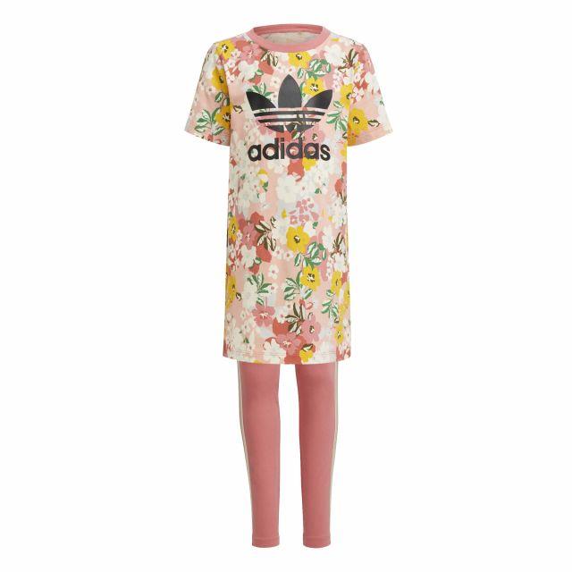 ADIDAS COMPLETO FLOREAL TEE DRESS SET GN42144