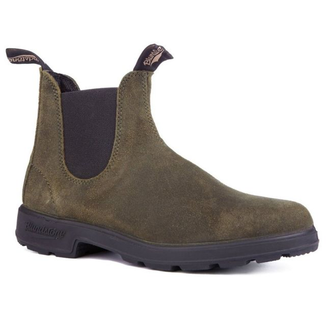BLUNDSTONE 1615 SIDE BOOT SUEDE OLIVE
