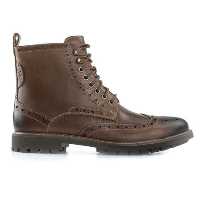 CLARKS MONTACUTE LORD MID CUOIO