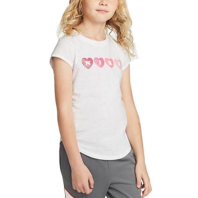 NIKE T-SHIRT GITL LOVE TEE CUORI 36H393-001