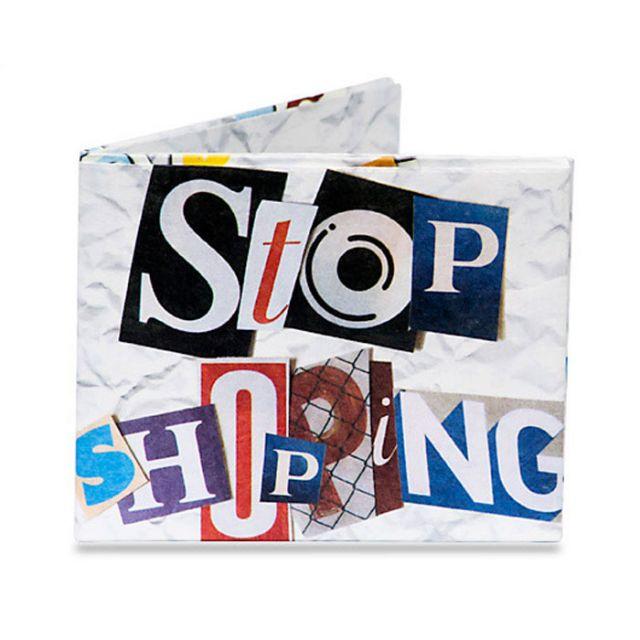 PORTAFOGLIO TYVEK MOD. STOP SHOPPING